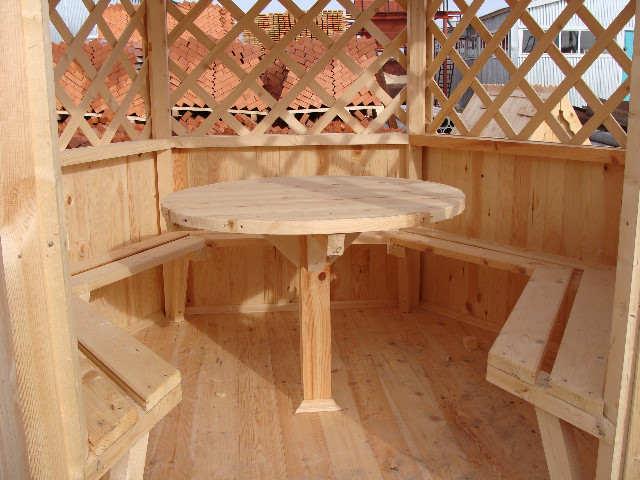 Изготовление деревянных беседок своими руками